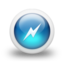 64x64px size png icon of Glossy 3d blue power