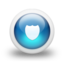 64x64px size png icon of Glossy 3d blue shield