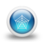 64x64px size png icon of Glossy 3d blue web