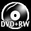 64x64px size png icon of Black DVDplusRW