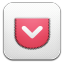 64x64px size png icon of Pocket alt 2