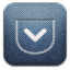64x64px size png icon of Pocket alt Demin