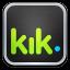 64x64px size png icon of kik Messenger