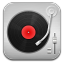 64x64px size png icon of music Record Player Red