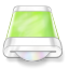 64x64px size png icon of drive green disk