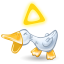 64x64px size png icon of duck quack