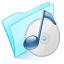 64x64px size png icon of folder blue musique