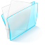 64x64px size png icon of folder blue paper