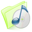 64x64px size png icon of folder green music