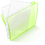 64x64px size png icon of folder green paper