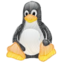 64x64px size png icon of linux tux