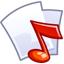 64x64px size png icon of Audio file