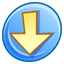 64x64px size png icon of Down