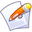 64x64px size png icon of Files edit