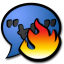 64x64px size png icon of chat hot