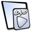 64x64px size png icon of doc dvd