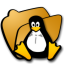 64x64px size png icon of folder linux
