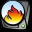 64x64px size png icon of harddrive cdrom burner
