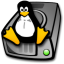 64x64px size png icon of harddrive linux