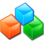 64x64px size png icon of App kcmdf cubes