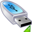 64x64px size png icon of Device usb drive mount