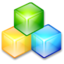 64x64px size png icon of Filesystem blockdevice cubes