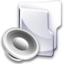 64x64px size png icon of Filesystem folder sound