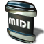64x64px size png icon of File MIDI
