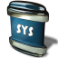 64x64px size png icon of File SYS