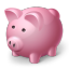 64x64px size png icon of piggy bank