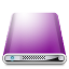 64x64px size png icon of Drives Colours Purple