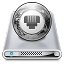 64x64px size png icon of Drives Network Offline