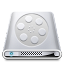 64x64px size png icon of Drives Videos
