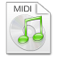 64x64px size png icon of Mimetypes midi