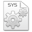 64x64px size png icon of Mimetypes sys