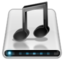 64x64px size png icon of Drives Music