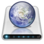 64x64px size png icon of Drives Network Online