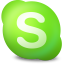 64x64px size png icon of Actions skype contact online