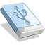 64x64px size png icon of USB HD