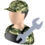 64x64px size png icon of Serviceman