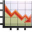 64x64px size png icon of Stats down