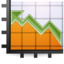 64x64px size png icon of Stats up