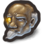 64x64px size png icon of Ancient Wiseman With Contradictingly Futuristic Yellow Glass Eye