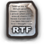 64x64px size png icon of Rich Text Format