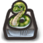 64x64px size png icon of aaAaah snake! Snaaake!! oh, it's a snake!