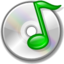 64x64px size png icon of Cdaudio unmount