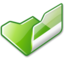 64x64px size png icon of Folder green open