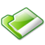 64x64px size png icon of Folder green