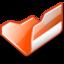 64x64px size png icon of Folder orange open