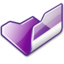 64x64px size png icon of Folder violet open